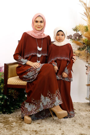SET FAMILY SEROJA DARK BROWN
