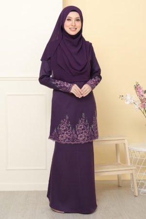 Kurung Alina Dark Purple