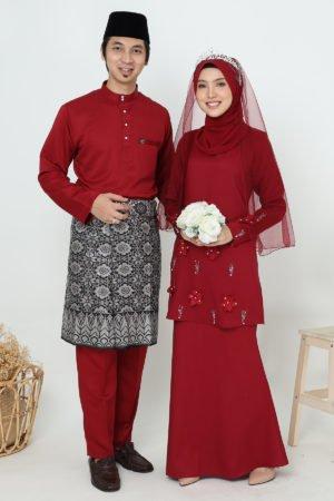 Set Couple Eriyca Maroon ( 6 ITEM )