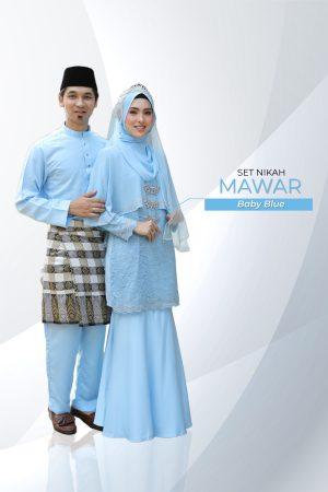 Set Couple Mawar Baby Blue ( 7 ITEM )