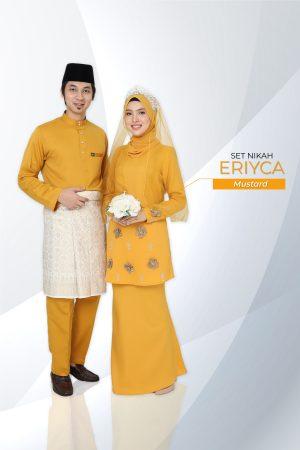 Set Couple Eriyca Mustard (7 ITEM – Termasuk Percuma Songkok )