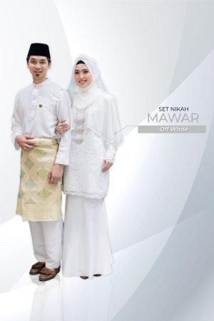 Set Couple Mawar Off White ( 7 ITEM )