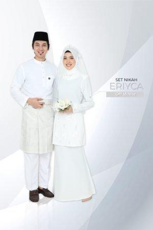 Set Couple Eriyca Off White (7 ITEM – Termasuk Percuma Songkok )