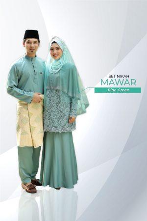 Set Couple Mawar Pine Green ( 7 ITEM )