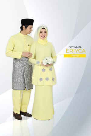 Set Couple Eriyca Yellow (7 ITEM – Termasuk Percuma Songkok )