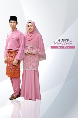 Set Couple Mawar Dusty Pink ( 7 ITEM )