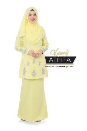 Kurung Athea Soft Yellow