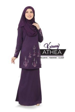 Kurung Athea Dark Purple