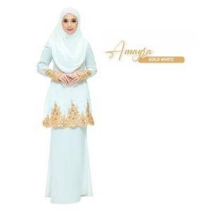 Kurung Amayra Off White Gold
