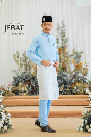 Baju Melayu Jebat Baby Blue