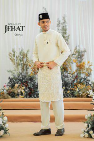 Baju Melayu Jebat Cream