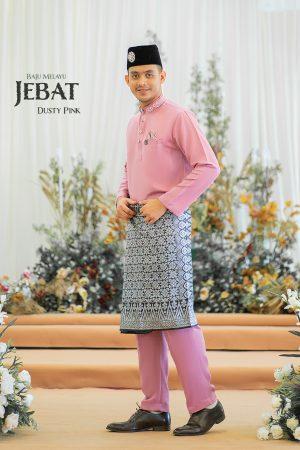 Baju Melayu Jebat Dusty Pink