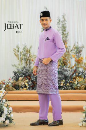 Baju Melayu Jebat Lilac