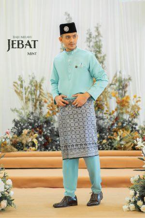 Baju Melayu Jebat Mint Green