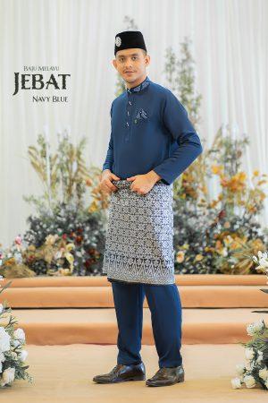 Baju Melayu Jebat Navy Blue