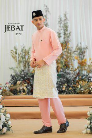 Baju Melayu Jebat Peach