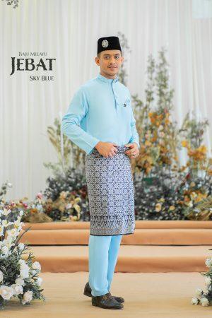 Baju Melayu Jebat Sky Blue