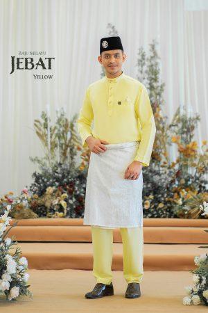 Baju Melayu Jebat Yellow