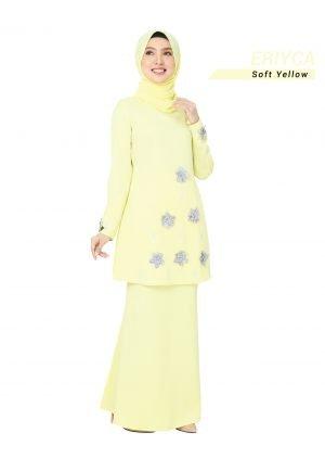 Kurung Eriyca Soft Yellow