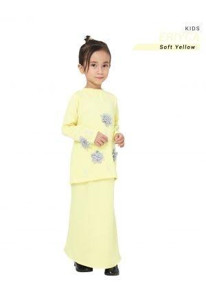 Kurung Eriyca Kids Soft Yellow