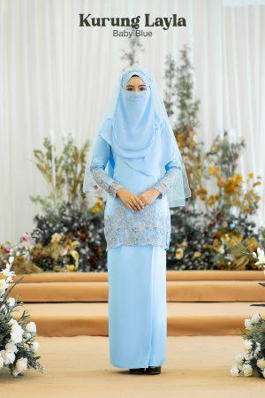 Kurung Layla Baby Blue
