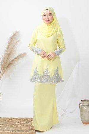 Kurung Elisa Soft Yellow