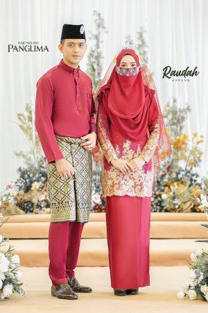 Couple Raudah Maroon(6 ITEM)