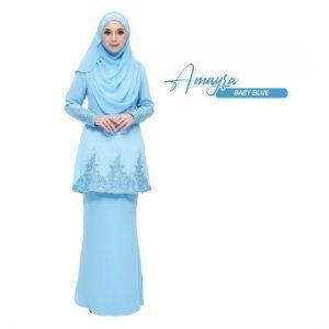 Kurung Amayra Baby Blue
