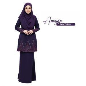 Kurung Amayra Dark Purple