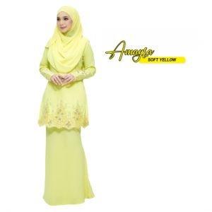 Kurung Amayra Soft Yellow
