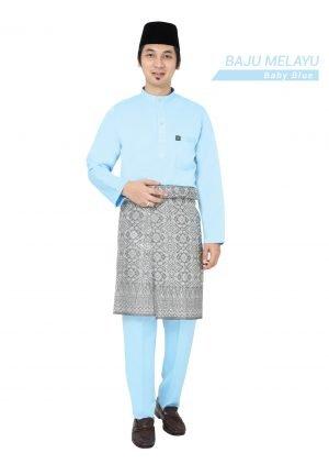 Set- Baju Melayu Al-Habib Baby Blue