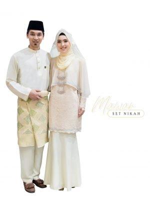Set Couple Mawar Cream  – TITANIUM