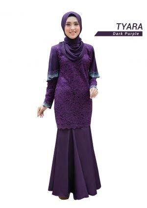 Kurung Tyara Dark Purple