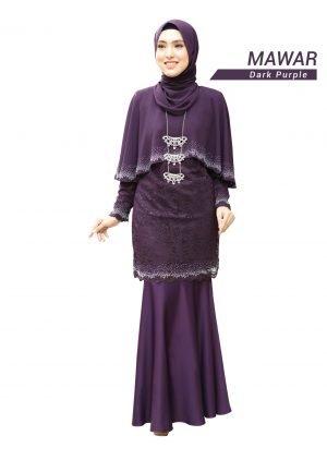 Kurung Mawar Dark Purple