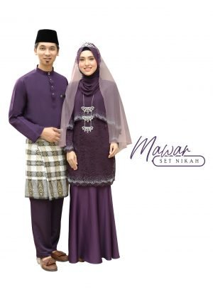 Set Couple Mawar Dark Purple – TITANIUM