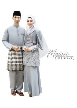 Set Couple Mawar Grey- TITANIUM