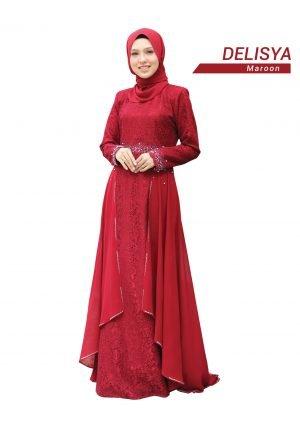 Dress Delisya Maroon