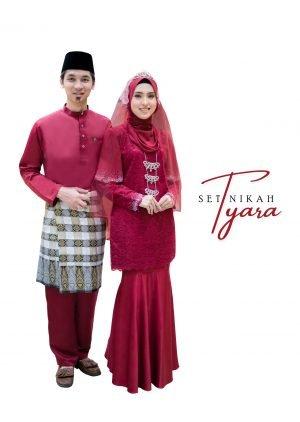 Set Couple Tyara Maroon- PLATINUM