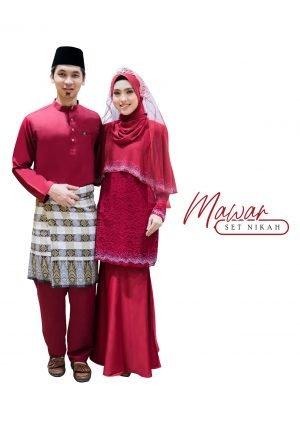 Set Couple Mawar Maroon – TITANIUM