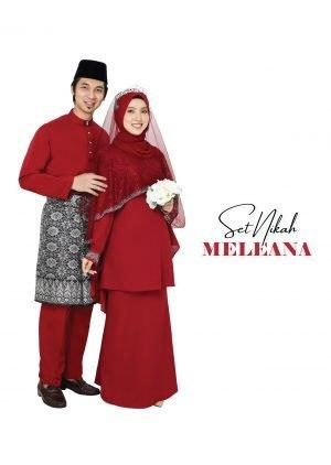 Set Couple Meleana Maroon – PLATINUM