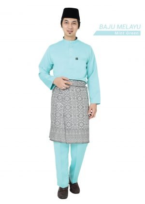 Baju Melayu Sakura Mint Green