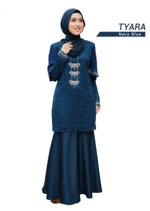 Kurung Tyara Navy Blue