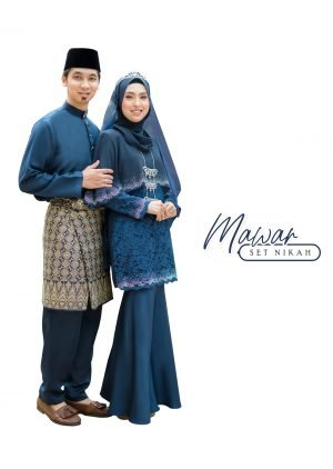 Set Couple Mawar Navy Blue – TITANIUM