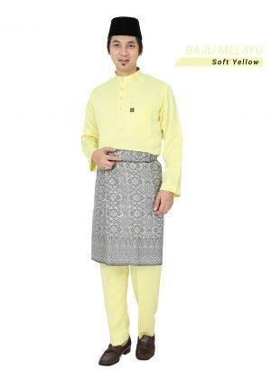 Baju Melayu Sakura Soft Yellow