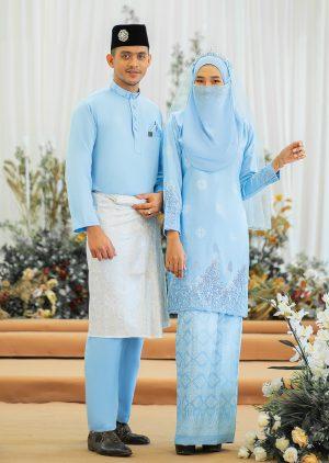 Couple Walinong Sari Baby Blue – PLATINUM