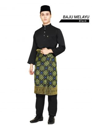 Set- Baju Melayu Al-Habib Black