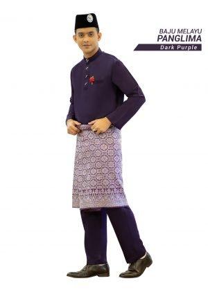 Set- Baju Melayu Panglima Dark Purple