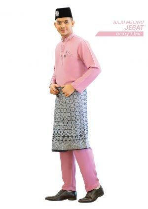 Set- Baju Melayu Jebat Dusty Pink