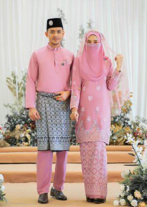 Set Couple Walinong Sari Dusty Pink – PLATINUM