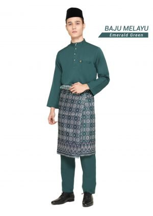 Set- Baju Melayu Al-Habib Emerald Green